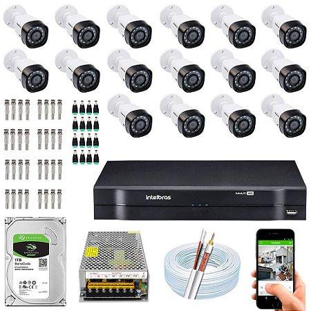Kit Cftv Dvr + 16 Câmeras Vhd 1010 B G5 ( Com HD ) Intelbras