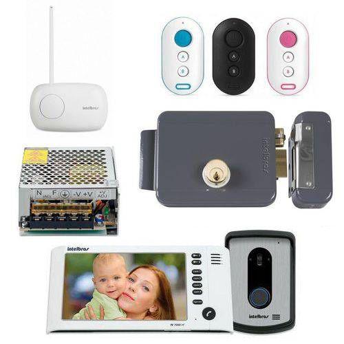 Kit Controle de Acesso Video Porteiro Iv 7010 Hf Branco + Acessórios