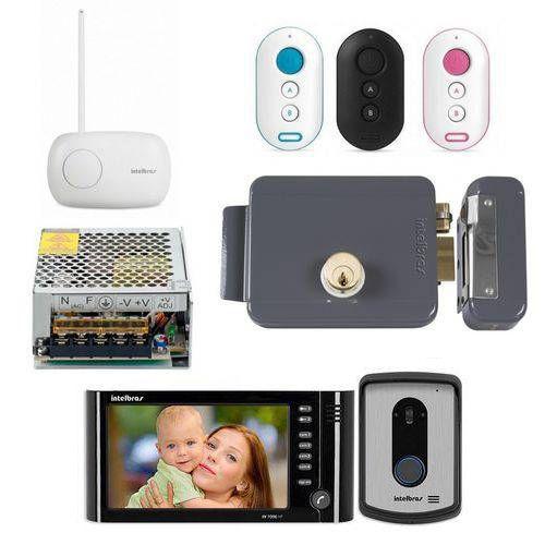 Kit Controle de Acesso Video Porteiro Iv 7010 Hf Preto  Acessorios