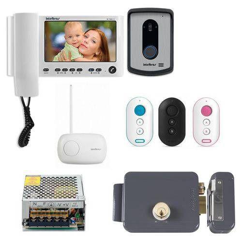 Kit Controle de Acesso Video Porteiro Iv 7010 Hs Branco + Acessórios