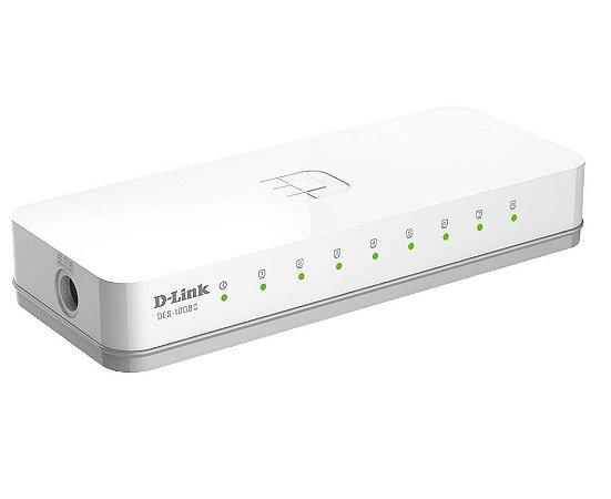 Switch 8 portas Ethernet 10/100mbps D-Link Des-1008c