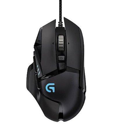 Mouse Gamer G502 com 11 Botões Programáveis - Logitech