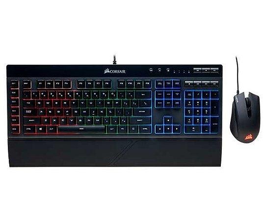 Kit Teclado e Mouse Gamer Rgb Abnt2 e K55 Ch-9206115-Br -  Corsair