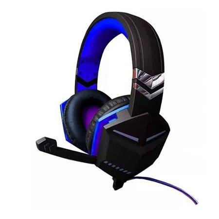 Fone de Ouvido Gamer Gaming o Jogador Azul - Feir