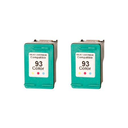 Kit 2 Cartuchos de Tinta Compativel HP 93 (9361) Colorido 14-18ml