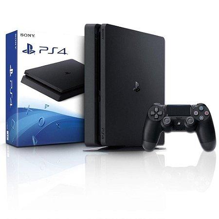 Console Ps4 Slim Preto 1Tb Sony Com 01 Controle