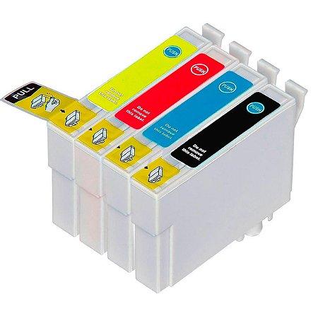 Kit 04 Cartuchos de Tinta Epson T1401 T1402 T1403 T1404 Compatível C/M/Y/B