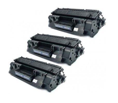 Kit 03 Cartuchos de Toner Compatível HP Ce505A Cf280A