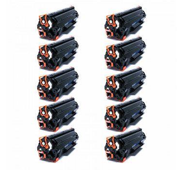 Kit 10 Cartuchos de Toner Compatível HP Cb435A Cb436A Ce285A