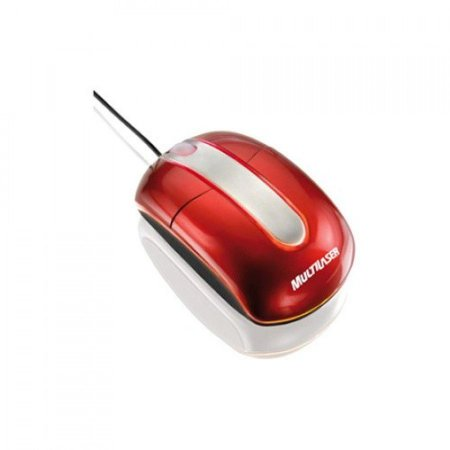 Mouse Óptico Steel Vermelho Piano Usb MO133 - Multilaser