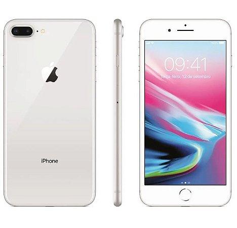 "iPhone 8 Plus Apple 64GB Prata 4G Tela 5,5"" Retina Câmera Dupla 12MP iOS 11"