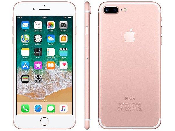 "iPhone 7 Plus Apple 32GB Rose 4G Tela 5.5"" Câmera Dupla 12MP + Selfie 7MP iOS 11 Proc. Chip A10"