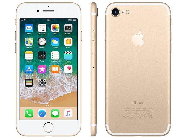 "iPhone 7 Apple 32GB Gold 4G Tela 4.7"" Retina - Câm. 12MP - Apple"