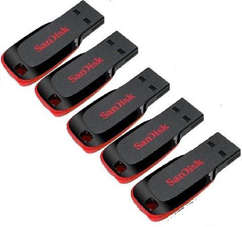 Kit 5 Pen Drive 2.0 Usb 8gb Cruzer Flash Drive Sandisk