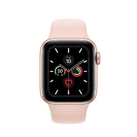 Apple Watch Série 5 44mm (gps) Prova D'água Com Pulseira Pink Sand Sport Band