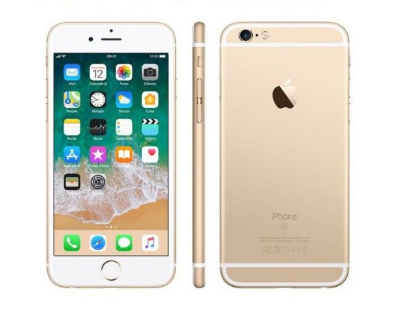 "iPhone 6s Plus Apple 32GB Dourado 4G Tela 5.5"" Retina Câm. 12MP + Selfie 5MP iOS 10 Proc. A9"