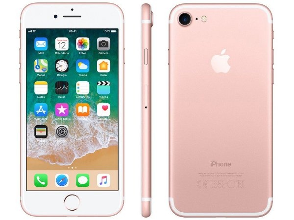 iPhone 7 Apple 32GB Rose 4G Tela 4.7 Retina Câmera 12MP + Selfie 7MP iOS 11 Proc. Chip A10