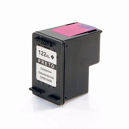 Cartucho de Tinta Compativel HP 122 (CH563) Preto 10ml