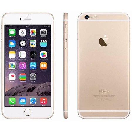 """iPhone 6 Apple 32GB Dourado 4G Tela 4.7"""" Retina Câmera 12MP + Selfie 5MP iOS 11 Proc. A9"""