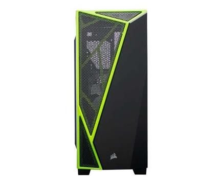 Gabinete Preto e Verde na Lateral Acrílico Spec-04 Nvidia Mid-Tower sem Fonte - Corsair