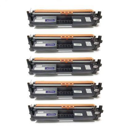 Kit 05 Cartuchos de Toner Compatível HP Cf217A