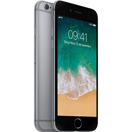 "iPhone 6s Plus Apple 32GB Cinza Espacial 4G Tela 5.5"" Retina Câmera 12MP + Selfie 5MP iOS 10 Proc A9"