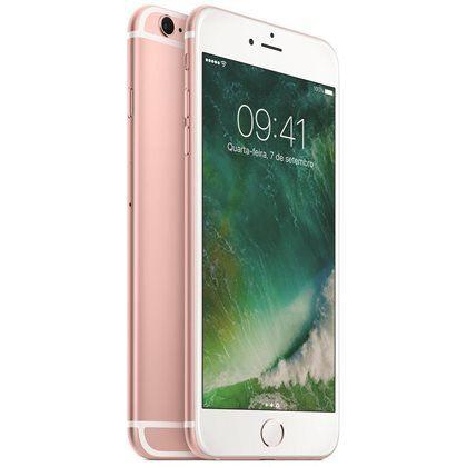 "iPhone 7 Plus Apple 128GB Rose 4G Tela 5.5"" Câmera Dupla 12MP + Selfie 7MP iOS 11 Proc. Chip A10"