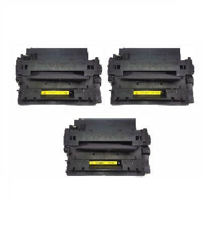 Kit 03 Cartuchos de Toner Compatível HP Ce-255A