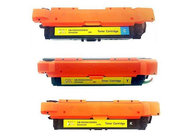 Kit 3 Toner CE250/251/252 HP Compativel