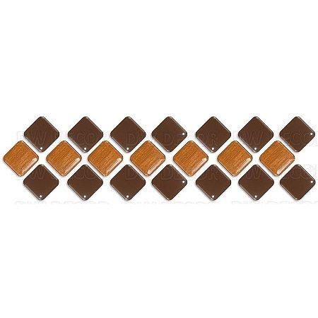 Pastilhas Adesiva Resinada, Faixa Diagonal, Marrom e Bronze, Faixa 30x8cm