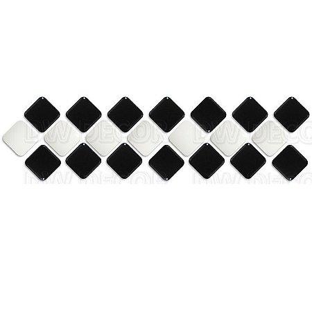 Pastilhas Adesiva Resinada, Faixa Diagonal, Preto e Branco, Faixa 30x8cm