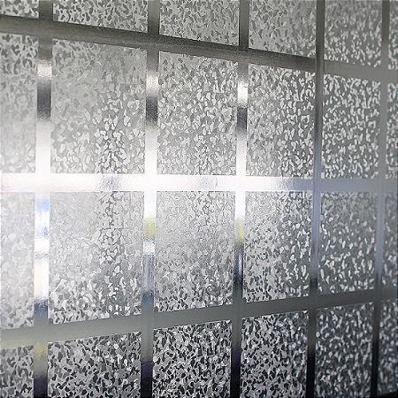 Adesivos Jateado para Vidros e Box - Modelo Quadra, 1m x 1,22m