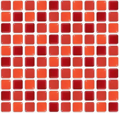 Pastilhas Adesiva Resinada, Placa de Cor única, Tons Vermelho