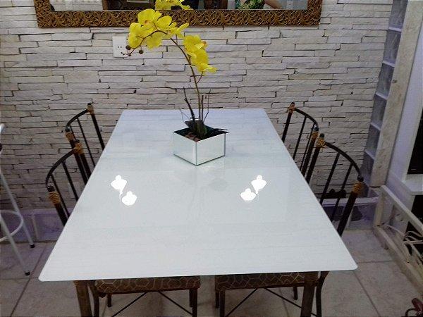 Adesivo para Envelopar Mesa de Vidro, Cor Branco- DW Decor