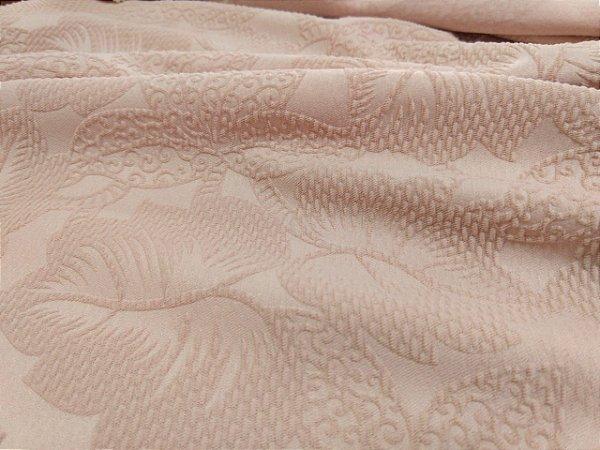 Malha Jacquard 3D - Rose