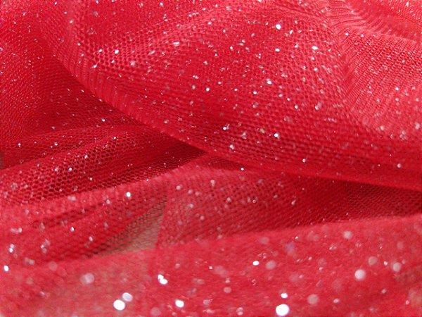 Tule Cristal - Vermelho