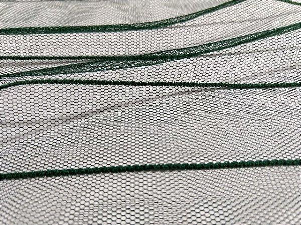 Tule Listrado - Verde Garrafa