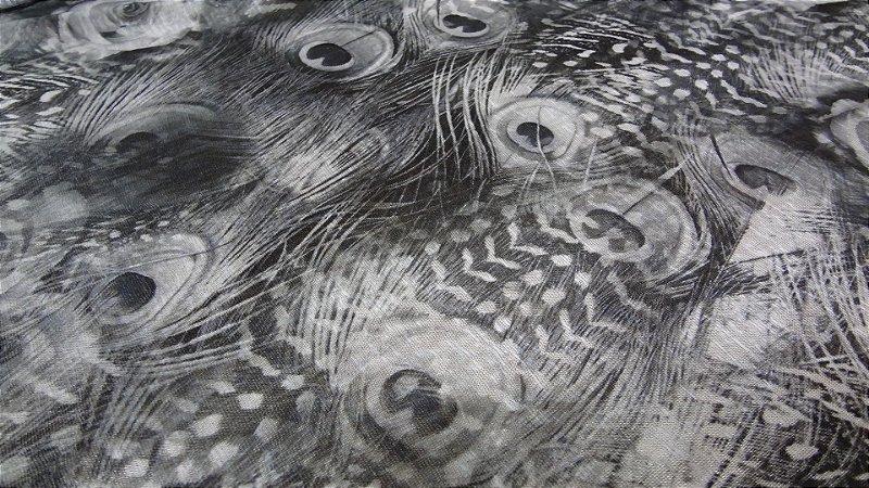 Tecido Malha Devorê de Poliéster  peacock