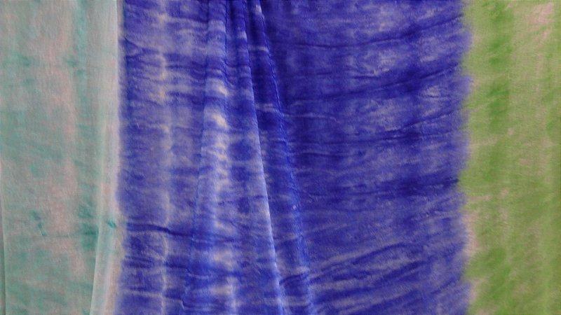 Tecido Malha Devorê de Poliéster colorful
