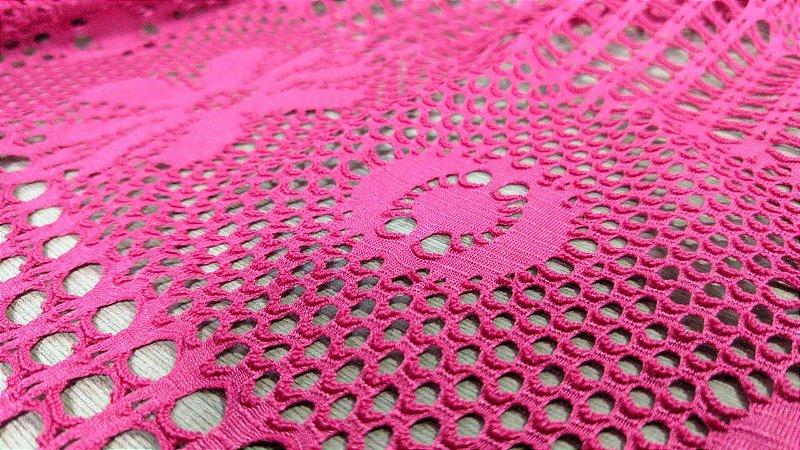 Renda arrastao worked pink