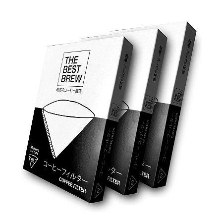 Kit com 3 Filtro Branco The Best Brew - 02 – 90 un