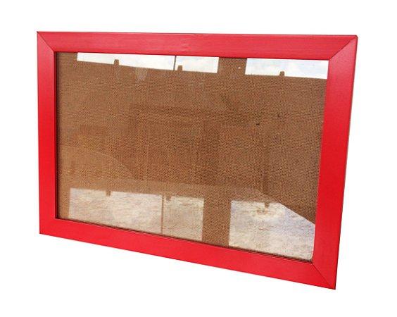 Moldura para Certificado Vermelha com Vidro