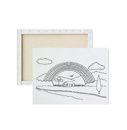 Tela para pintura infantil - Arco Íris