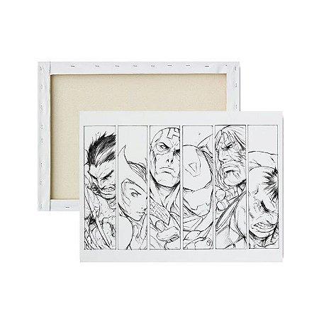 Tela para pintura infantil - Avengers