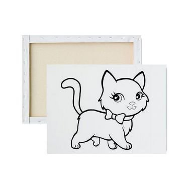 Tela Para Pintura Infantil - Gato