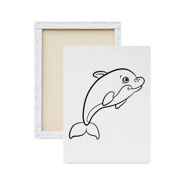Tela Para Pintura Infantil - Golfinho