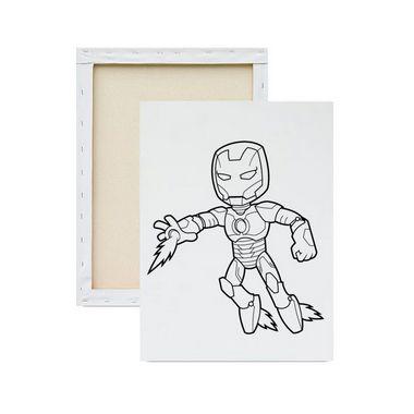 Tela Para Pintura Infantil Homem De Ferro Warte Wartetelas