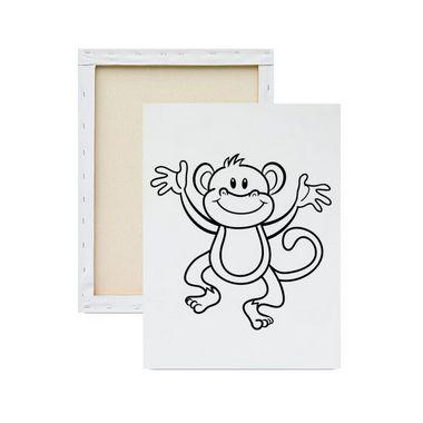 Tela Para Pintura Infantil - Macaco