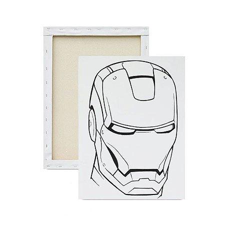 Tela Para Pintura Infantil - Face do Homem de Ferro