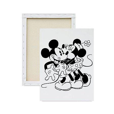 Tela Para Pintura Infantil - Minnie e Mickey